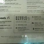 Dessert: Bubble Waffle