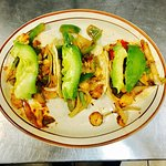 Tacos galore! We even offer vegetarian/vegan options as well! Try our veggie grilled tacos toppe