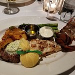 Lobster Tail and Filet entree