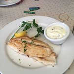 Sand Dabs appetizer with tartar sauce