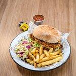 Burger Tjips & Slaw