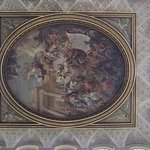 The ceiling painting above the entrance hall.