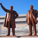 Bronze statues of the Kims