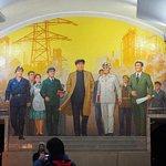 Mural in the Pyongyang subway