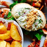 Beautiful Dressed Brown Scottish Crab with Hand Cut Ship's Chips