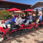 Pedaling down the rails in Boulder City, NV.