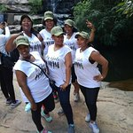 These are my gals on this tour(@ Moremi gorge).....at the 3rd waterfall