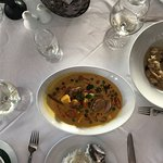 Wild Mushroom risotto & Gaeng Phed Ped Yang (Grilled duck in red curry sauce)