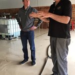 meeting the master distiller (on the right)
