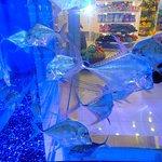 живые рыбки в витрине