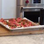 Tomato/mozzarella/basil crostini