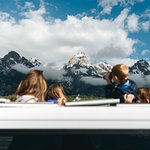 Using the roof hatches on a wildlife tour in Grand Teton National Park