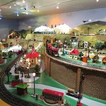 Toy train layout found on second level