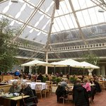 Glassed Roofed Restaurant, looks nice, but noisy