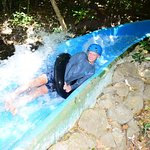 400 meter water slide through the jungle.