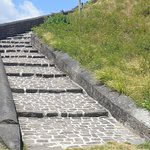Stairs to the top of the fortress.