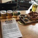 Beer Sampler and pretzels!