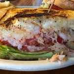 Crab Melt Sandwich served with fries