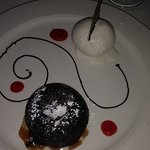 My dessert! It was so beautiful, I almost didn't eat it - thank God I did! YUM!
