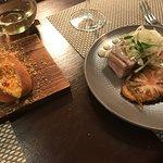 lobster 'hotdog' and tuna steak