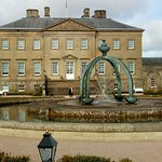 Exterior of Dumfries House. (Didn't think the fountain was a good match for the wonderful buildi