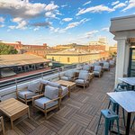 Rooftop bar at The Grove overlooking City Market