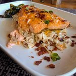 Salmon with Butternut Squash and Sage Pecan Risotto