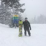 Fresh April powder plus Burton boards are a great combination for a great time at Alyeska !!