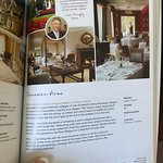 Page from the book, Small Luxury Hotels of the World, that lists the Dunraven Arms
