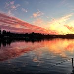 Returning to Ucluelet Harbour at sunset