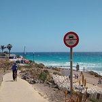 carril bici de la playa