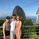 From Corcovado you can see sugarloaf mountain behind us