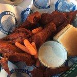 Dry rub fried wings