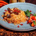 Плов. Национальное блюдо восточной кухни с говядиной