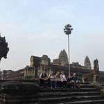 Angkor Wat with no other tourists nearby