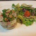 Tartare de légumes frais.