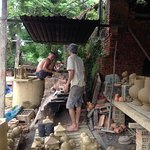 village starts to arrange the pottery