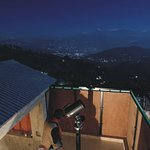 Telescopic observation on a moonlit night at kausani observatory. Moonlit himalayas and garur va