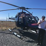The newest helicopter to the fleet and Gary, our pilot