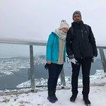 winter wonderland at the top