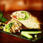 Burrito chicken or beef or vegetarian