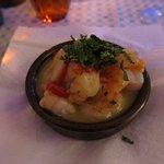 Starter: prawns in chili & garlic