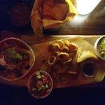 Sharing platter. In the dark