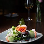Smoked Salmon & Prawns with shaved Fennel & Marie Rose Sauce