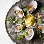 Kelly's Oysters with Soda Bread & Worchestershire Sauce