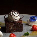 Our famous Chocolate Brownes served with Cream and with Ice - Cream