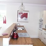 Large bright kitchen diner overlooking the park