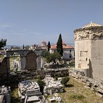 The roman Agora and the wind tower!