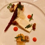 Von Trapp Farmstead Mt. Alice Cheese, roasted carrot, maple candied walnuts, plumped golden rais