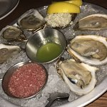 Oysters with Mignonette, Horseradish & Lemon